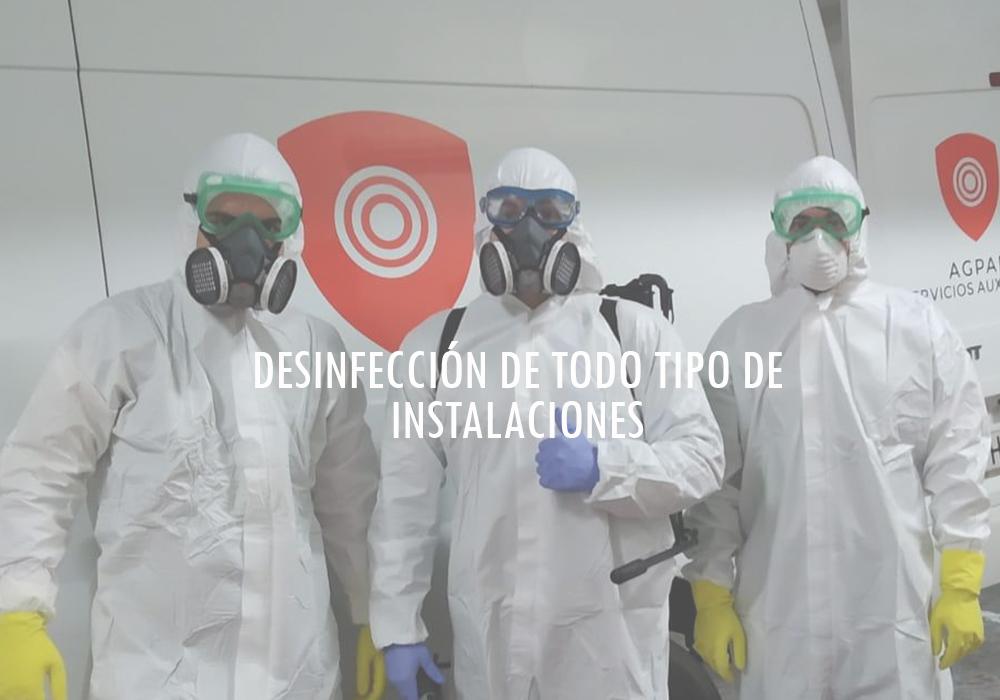desinfección y limpieza superficies e instalaciones